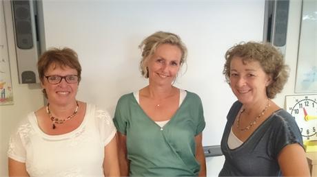 Vlnr: Helma Voskuil, Laura Bos, Corine van der Knaap